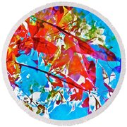 Abstract 128 Round Beach Towel