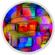 Abstract 1293 Round Beach Towel