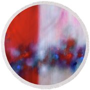 Abstract Painting 137 Round Beach Towel