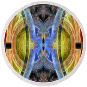 Abstract 14 Round Beach Towel