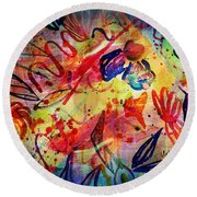 Abstract 17-05 Round Beach Towel