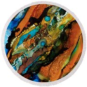 Abstract 17 Round Beach Towel