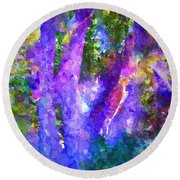 Abstract 18 Round Beach Towel