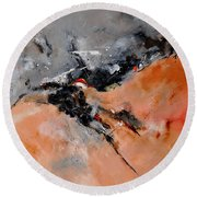 Abstract 1811503 Round Beach Towel