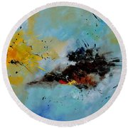 Abstract 1811803 Round Beach Towel