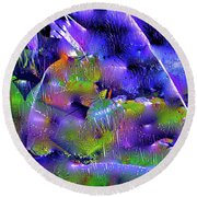 Abstract 19 Round Beach Towel