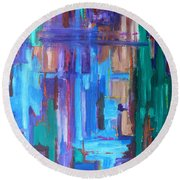 Abstract 20 Round Beach Towel