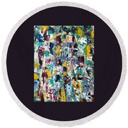 Abstract 2018-02 Round Beach Towel