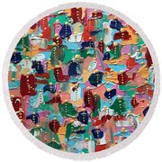 Abstract 2018-04 Round Beach Towel