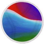 Abstract 201x By Nixo Round Beach Towel