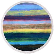 Abstract 215 Round Beach Towel