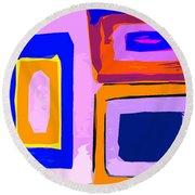 Abstract 223b Round Beach Towel