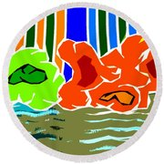 Abstract 229 Round Beach Towel