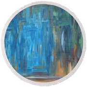 Abstract 297 Round Beach Towel