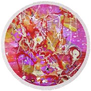 Abstract 304 Round Beach Towel