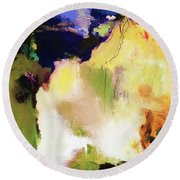 Abstract #36 Round Beach Towel
