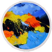 Abstract 363604 Round Beach Towel