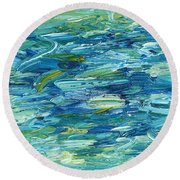 Abstract 366 Round Beach Towel