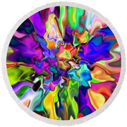 Abstract 373 Round Beach Towel