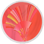 Abstract 386 Round Beach Towel