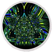 Abstract 401 Round Beach Towel