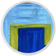 Abstract 402 Round Beach Towel