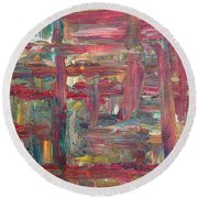 Abstract 403 Round Beach Towel