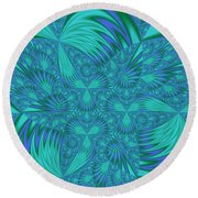 Abstract 404 Round Beach Towel