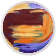 Abstract 413 Round Beach Towel