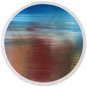 Abstract 422 Round Beach Towel by Patrick J Murphy