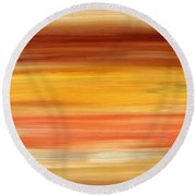 Abstract 425 Round Beach Towel