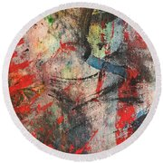 Abstract 43 Round Beach Towel