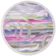 Abstract 436 Round Beach Towel
