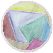 Abstract 437 Round Beach Towel