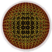 Abstract 442 Round Beach Towel
