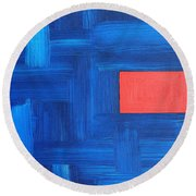 Abstract 443 Round Beach Towel