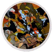 Abstract 446190 Round Beach Towel