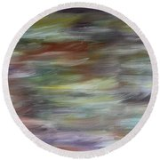 Abstract 447 Round Beach Towel