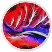 Abstract #45 Round Beach Towel