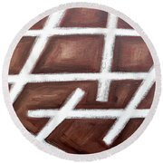 Abstract 459 Round Beach Towel