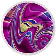 Abstract #49 Round Beach Towel