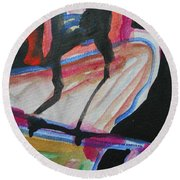 Abstract-5 Round Beach Towel