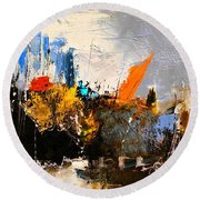 Abstract 517032 Round Beach Towel