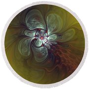 Abstract 51710 Round Beach Towel