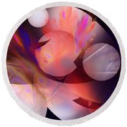 Abstract 51710d Round Beach Towel