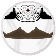 Abstract 54 Round Beach Towel