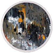 Abstract 5470401 Round Beach Towel