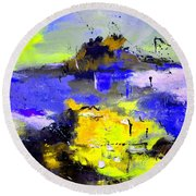 Abstract 55442233 Round Beach Towel