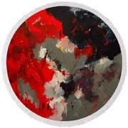 Abstract 55901103 Round Beach Towel