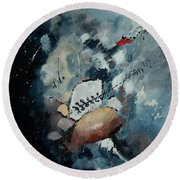 Abstract 55902192 Round Beach Towel